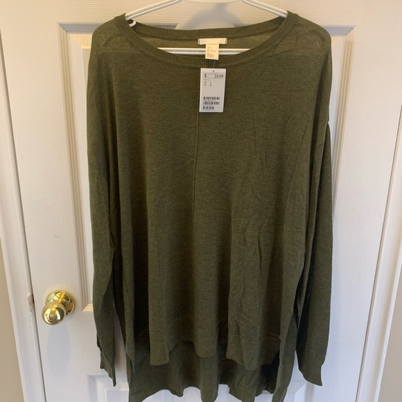 H&M Green Long Sleeve - Large NWT